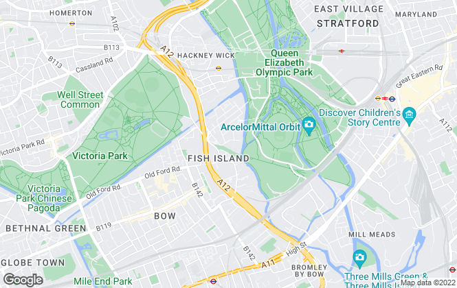 Map for The Hive, London