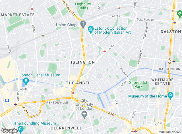 Map for Martin & Co, Islington - Lettings & Sales
