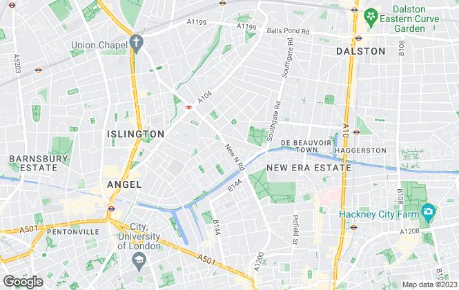 Map for Blackcords Estates, Islington