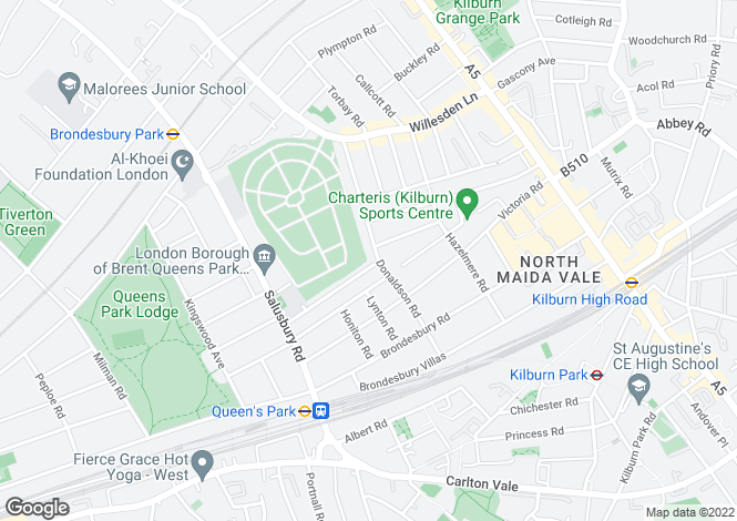 Map for St Johns Wood Park, NW6