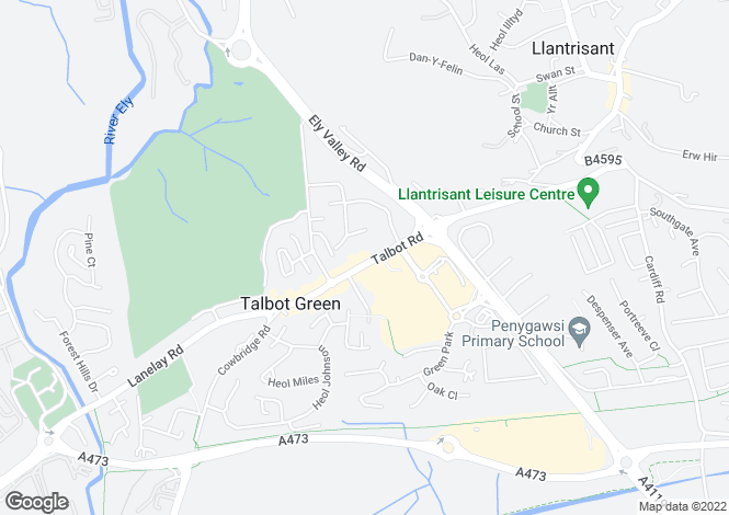 Map for Flat 97, Lifestyle House, Talbot Green, PONTYCLUN, Mid Glamorgan