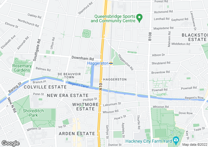 Map for Soda Studios, 266 Kingsland Road, Haggerston, London