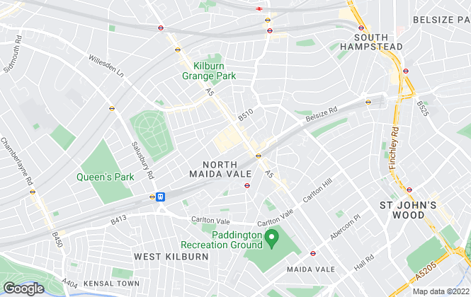 Map for Jorgensen Turner, Queens Park and Kensal Branch - Lettings
