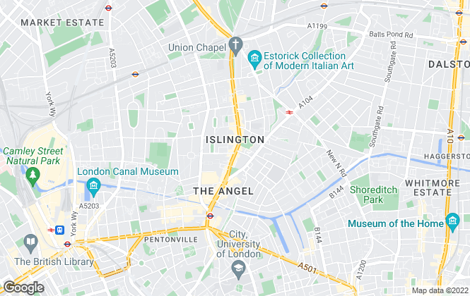 Map for Islington Properties Ltd, Islington
