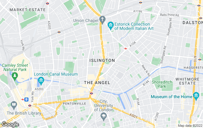 Map for Faron Sutaria, Islington