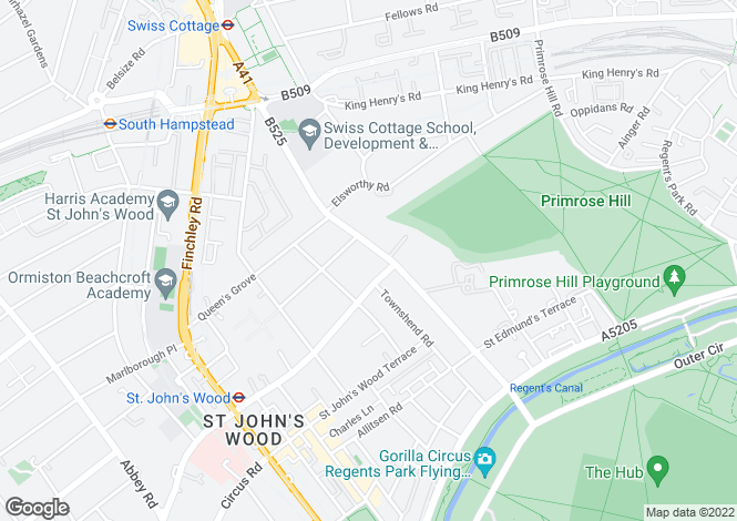 Map for Avenue Road, St John's Wood, London, NW8 6HR
