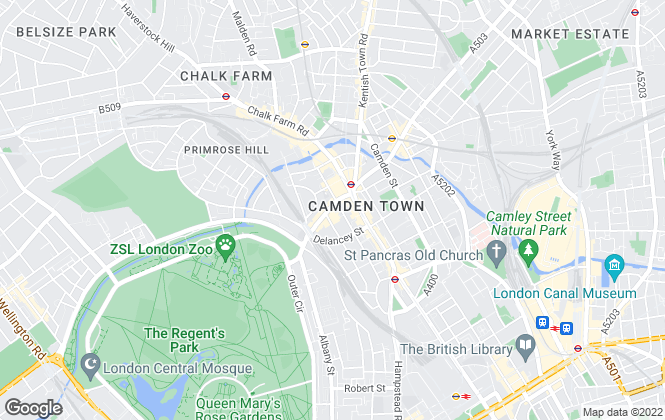 Map for Camden Bus, London