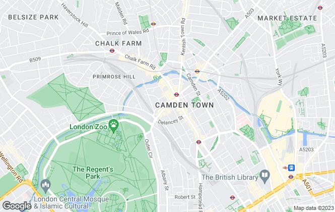 Map for Camden Bus, London