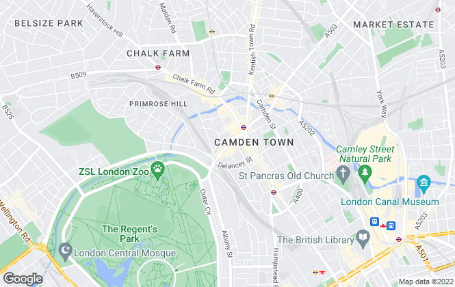 Map for Christo and Co, Camden