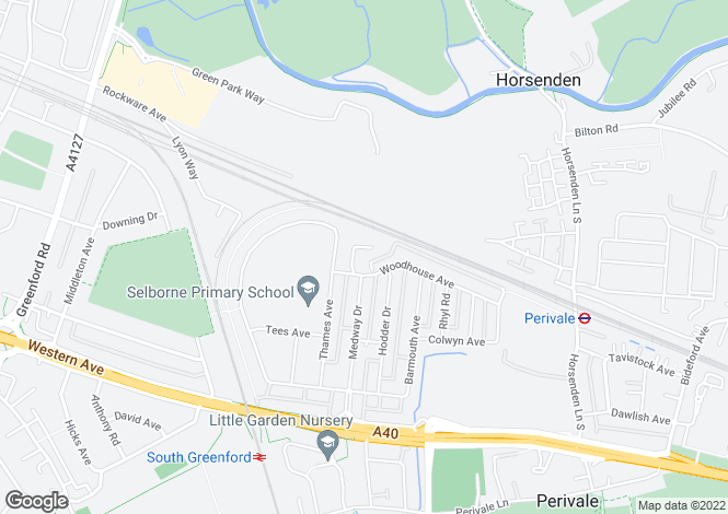 Map for Woodhouse Close, Perivale