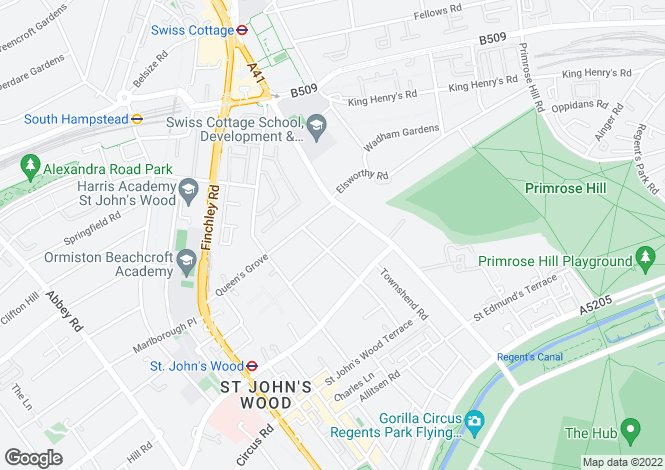 Map for Norfolk Road, St John's Wood, NW8
