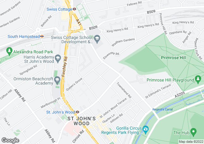 Map for Norfolk Road, St. John's Wood, London, NW8 6AX