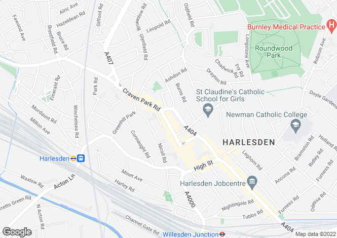 Map for Craven Park Road , Harlesden