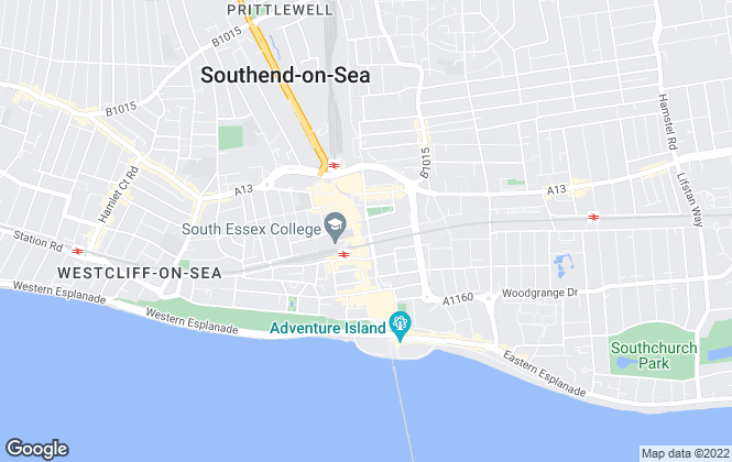 Map for Henderson Property, Southend-on-Sea