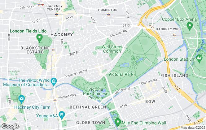 Map for Robert Alan Homes, Hackney