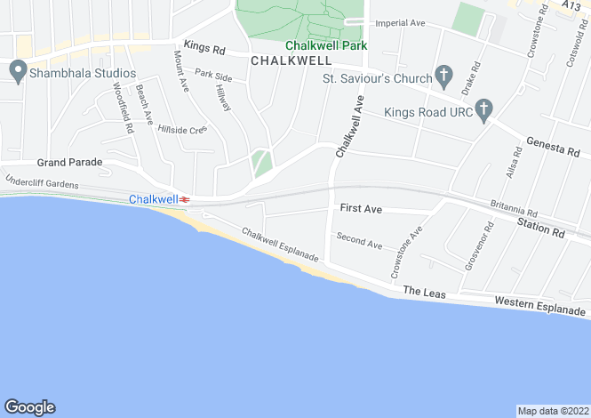 Map for Esplanade Gardens, Westcliff-On-Sea