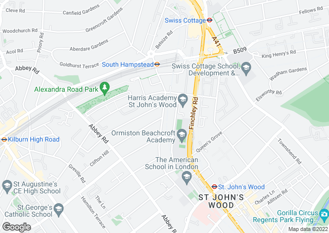 Map for Loudoun Road, St Johns Wood, NW8