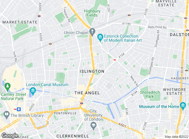 Map for Kinleigh Folkard & Hayward - Sales, Islington