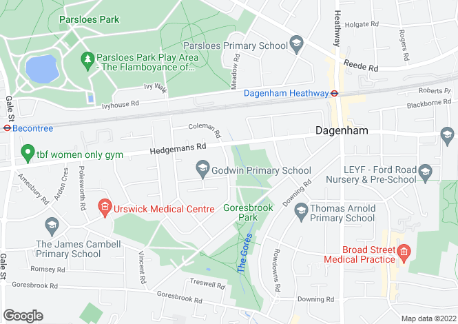 Map for Cartwright Road, Dagenham, Essex, RM9