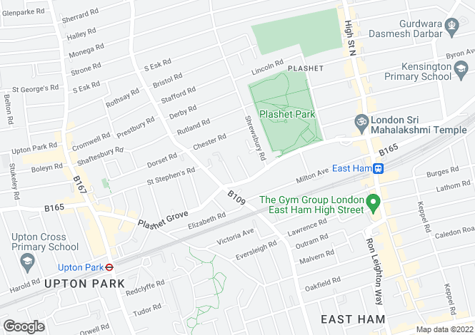 Map for Edith Road, East Ham, London, E6 1DE