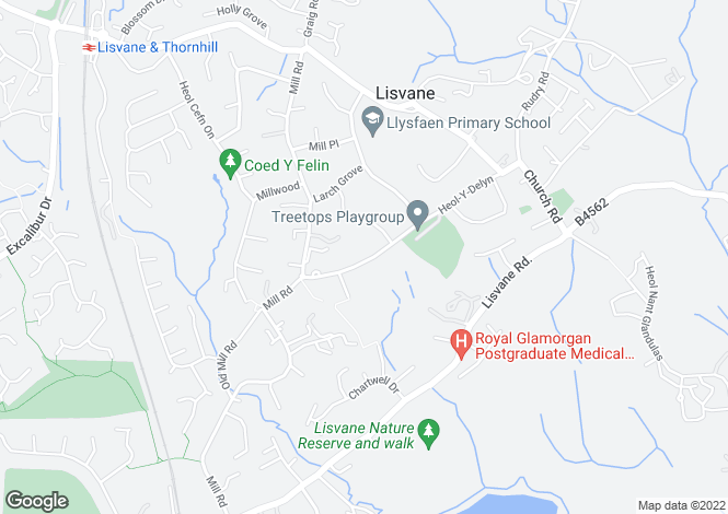 Map for Heol Y Delyn, Lisvane, Cardiff, CF14 0SR