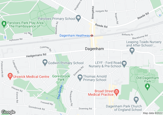 Map for Dagenham Avenue, Dagenham, Greater London, Essex, RM9 6LD