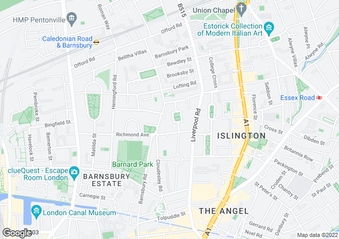 Map for Lonsdale Square, Islington, London N1 1EW