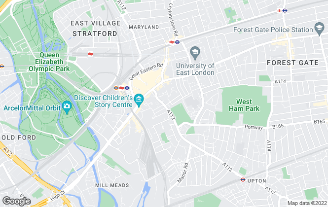 Map for Martin & Co, Stratford - Lettings & Sales