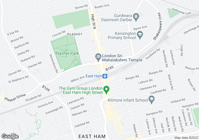 Map for High Street North,