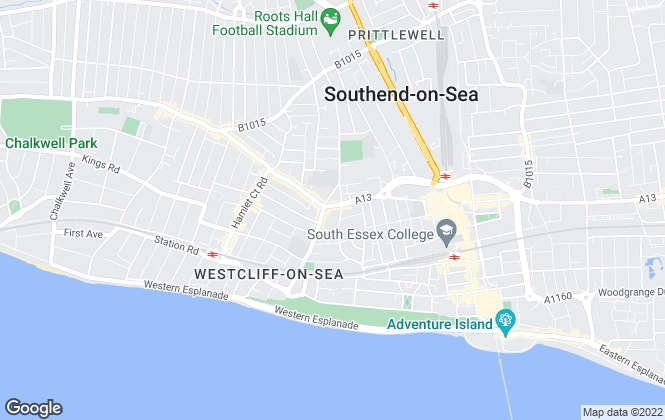 Map for Hair & Son LLP, Southend on Sea