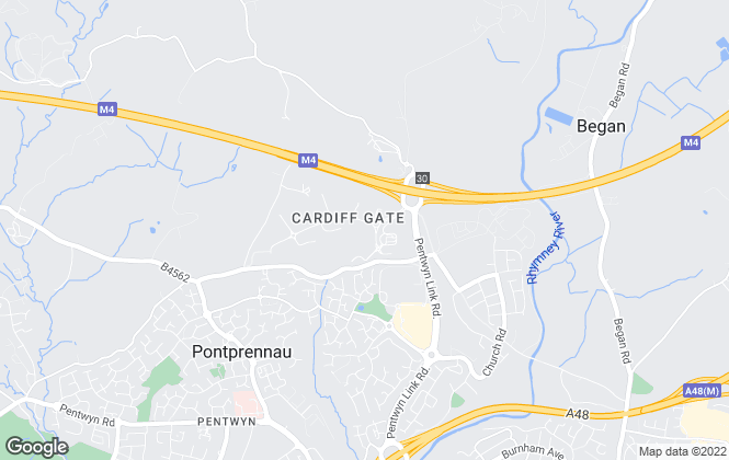 Map for Sanfire Estates, Cardiff