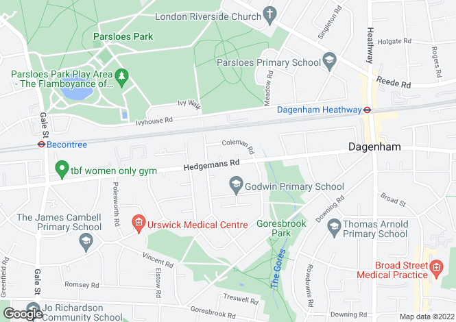 Map for Hedgemans Road,