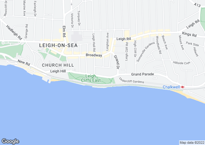 Map for Cliff Parade, Leigh On Sea, Essex