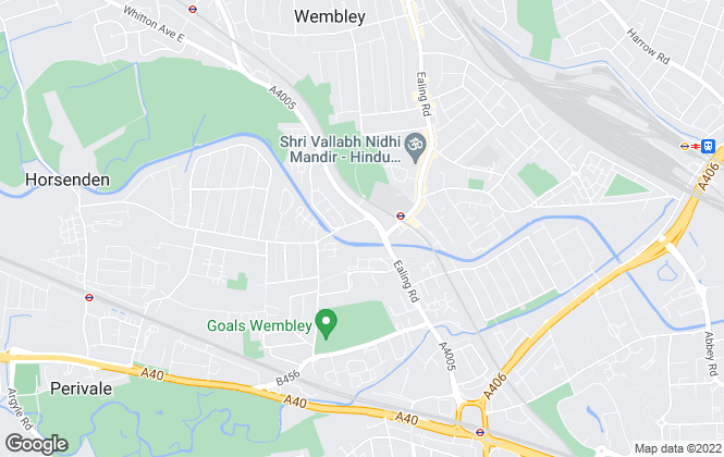 Map for Emerald Keys, Wembley