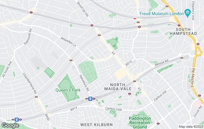 Map for Solmet Properties, London