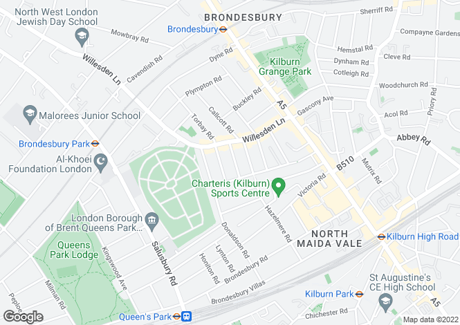 Map for Kingsley Road, London