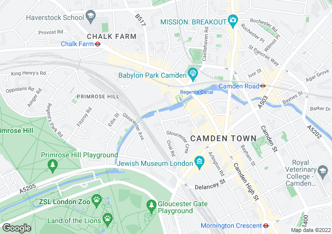 Map for Camden