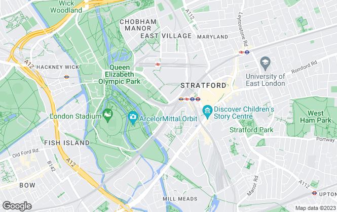 Map for C H Estates Ltd, Stratford