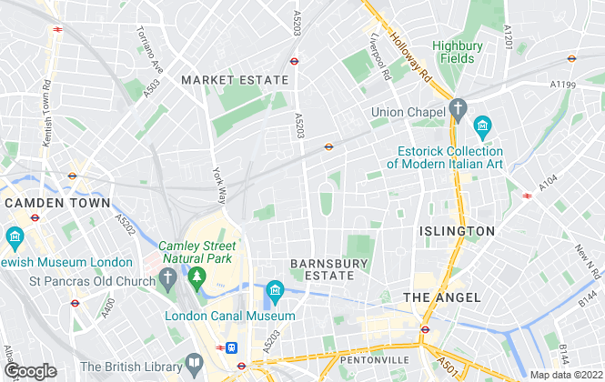 Map for Square Quarters, Islington