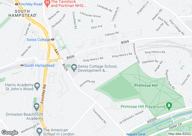 Map for Wadham Gardens, Primrose Hill, London, NW3