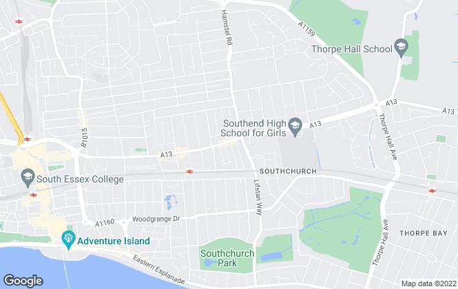 Map for Chiddicks Homes, Southend-on-Sea
