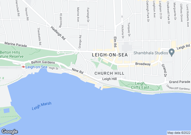 Map for Leigh Park Road, Leigh-on-sea, Essex