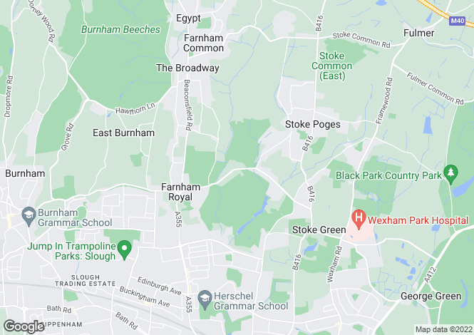 Map for Stoke Poges, Stoke Poges, SL2