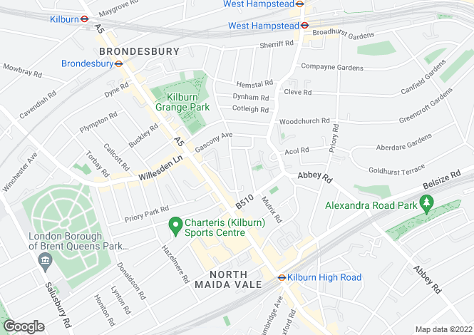 Map for West Hampstead, West Hampstead