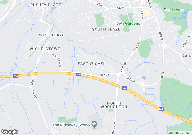 Map for East Wichel Way, Wichelstowe, Swindon, Wiltshire