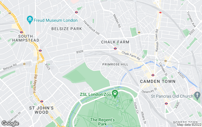 Map for Savills Lettings, Primrose Hill