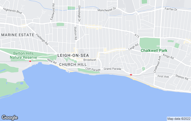 Map for Coulson James, Leigh on Sea