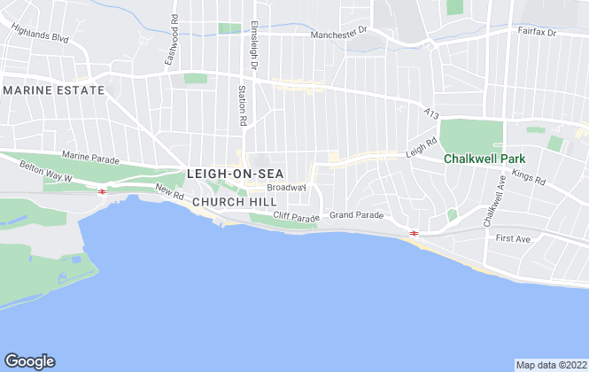 Map for Ashleigh Stone, Leigh on Sea