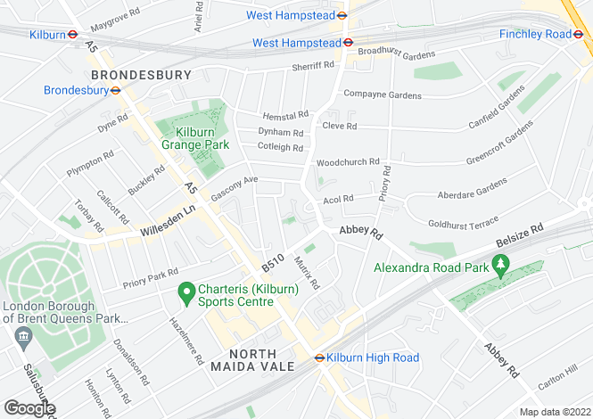 Map for Kings Gardens Garages, West End Lane, West Hampstead