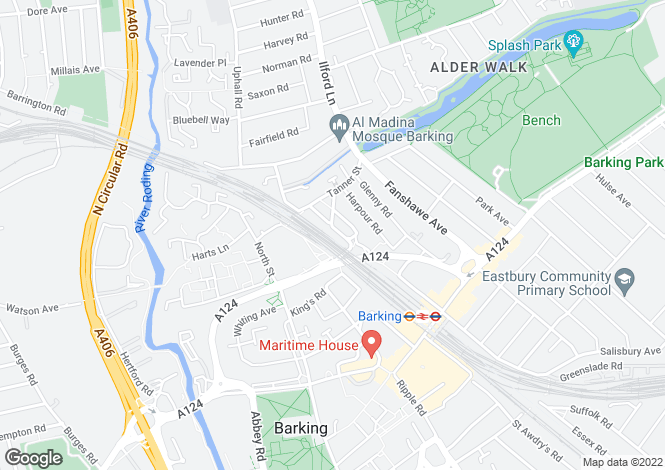 Map for Church Road, BARKING, Essex